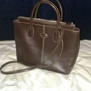 Tods top handle leather satchel